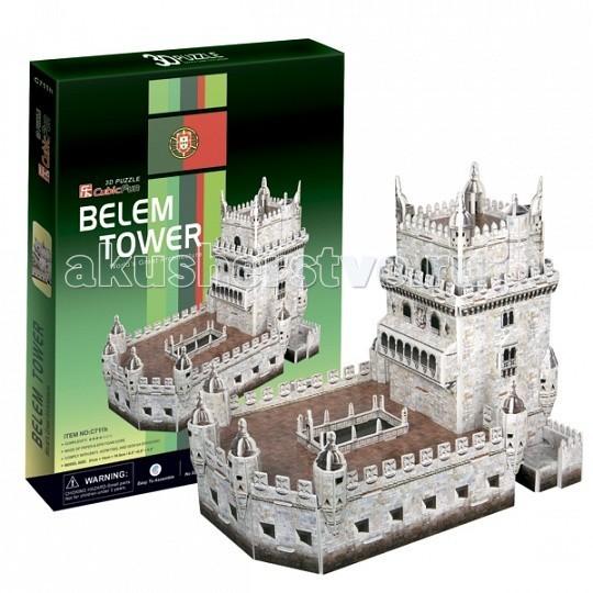 Конструкторы CubicFun 3D пазл Башня Белен (Португалия) конструкторы cubicfun 3d пазл эйфелева башня 2 франция