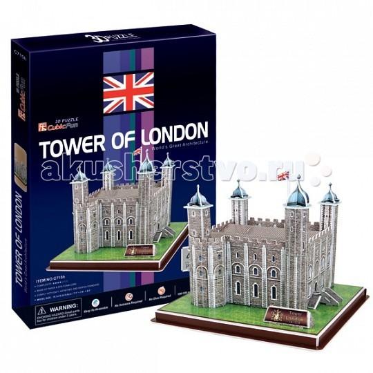 Конструкторы CubicFun 3D пазл Лондонский Тауэр (Великобритания) 3d головоломка лондонский автобус 90129