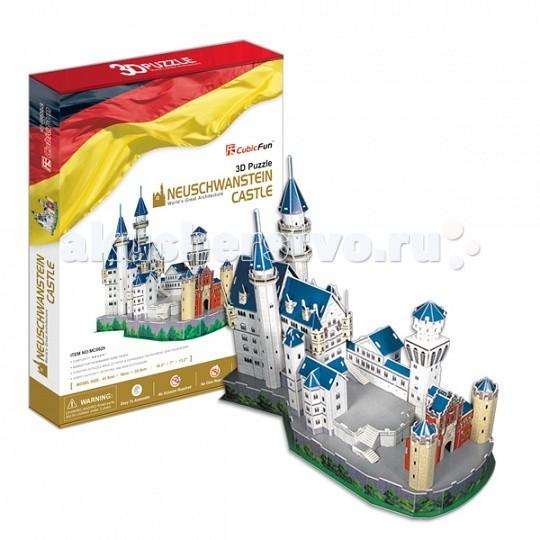 Конструкторы CubicFun 3D пазл Замок Нойшванштайн (Германия) конструкторы cubicfun 3d пазл эйфелева башня 2 франция