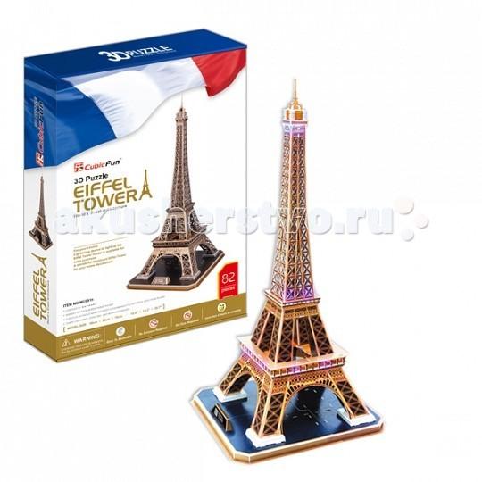 Конструктор CubicFun 3D пазл Эйфелева Башня (Франция) MC091h3D пазл Эйфелева Башня (Франция) MC091hИгрушка Эйфелева Башня (Франция)  Башня является самой узнаваемой архитектурной достопримечательностью Парижа, имеет мировую известность как символ Франции. Названа в честь своего конструктора Густава Эйфеля.  Уровень сложности - 6.  Функции: - помогает в развитии логики и творческих способностей ребенка - помогает в формировании мышления, речи, внимания, восприятия и воображения - развивает моторику рук - расширяет кругозор ребенка и стимулирует к познанию новой информации.  Практические характеристики: - обучающая, яркая и реалистичная модель - идеально и легко собирается без инструментов - увлекательный игровой процесс - тематический ассортимент - новый качественный материал (ламинированный пенокартон).<br>