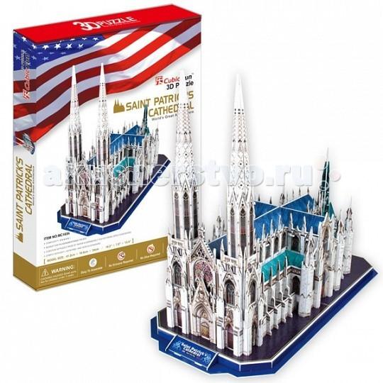 Конструкторы CubicFun 3D пазл Собор Святого Патрика (США) cubicfun храм святого семейства испания
