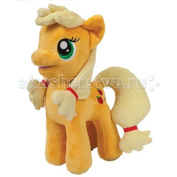 Мягкие игрушки Мульти-пульти My Little Pony Пони Эпплджек 23 см мульти пульти мягкая игрушка серый мышонок 23 см со звуком кот леопольд мульти пульти