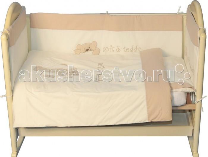 Комплекты в кроватку Папитто Плюшевый Мишка (6 предметов) комплекты в кроватку папитто плюшевый мишка 6 предметов