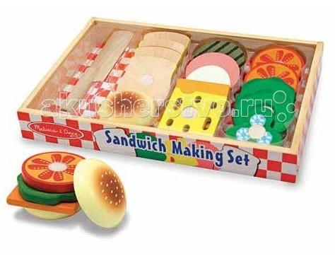 Деревянная игрушка Melissa & Doug Готовь и играй Делаем сэндвич