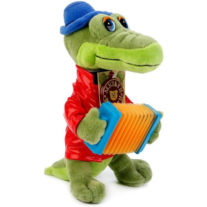 Мягкие игрушки Мульти-пульти Крокодил Гена с аккардеоном 24 см ночники egmont ночник крокодил 24 см