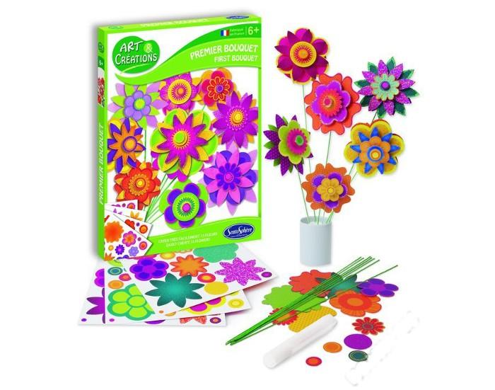 Наборы для творчества SentoSpherE Набор для детского творчества Создай букет наборы для творчества folia набор для детского творчества чемоданчик весна