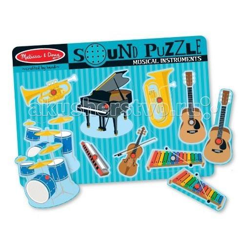 Пазлы Melissa & Doug Звуковые пазлы Музыкальные инструменты музыкальные игрушки melissa