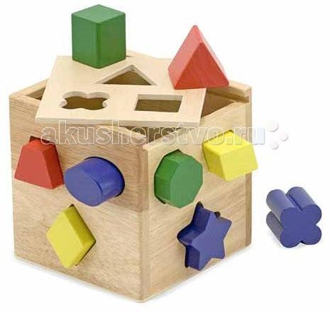 Деревянные игрушки Melissa & Doug Классические игрушки Сортировщик фигур Куб музыкальные игрушки melissa