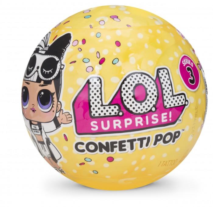 Куклы и одежда для кукол L.O.L. Кукла-Конфетти lol 548843 кукла сюрприз в шарике