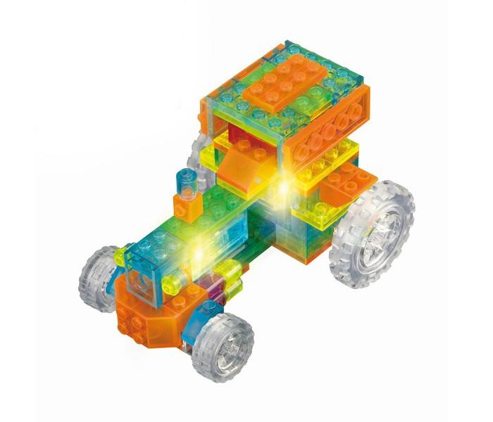 Конструктор Crystaland Светящийся Трактор 6 в 1 (89 деталей)