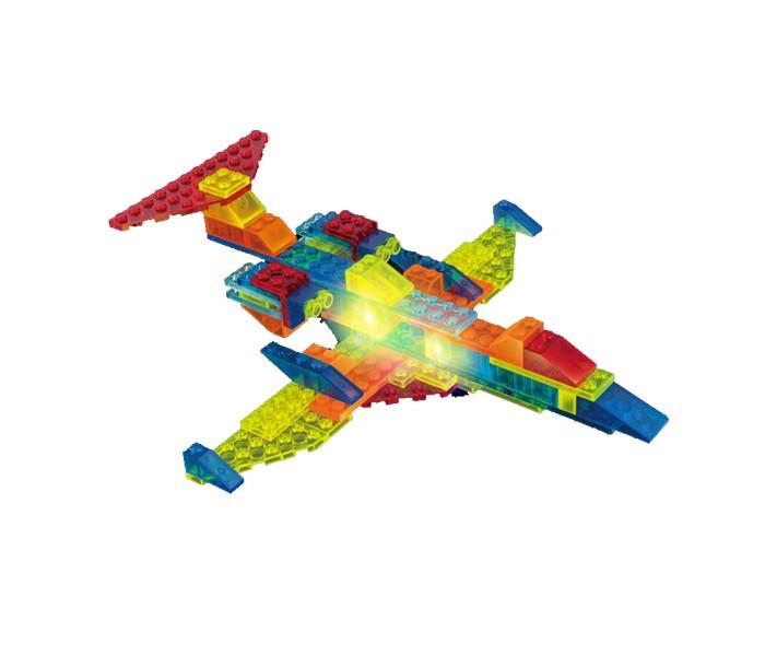 Конструктор Crystaland Светящийся Истребитель 6 в 1 (71 деталь)