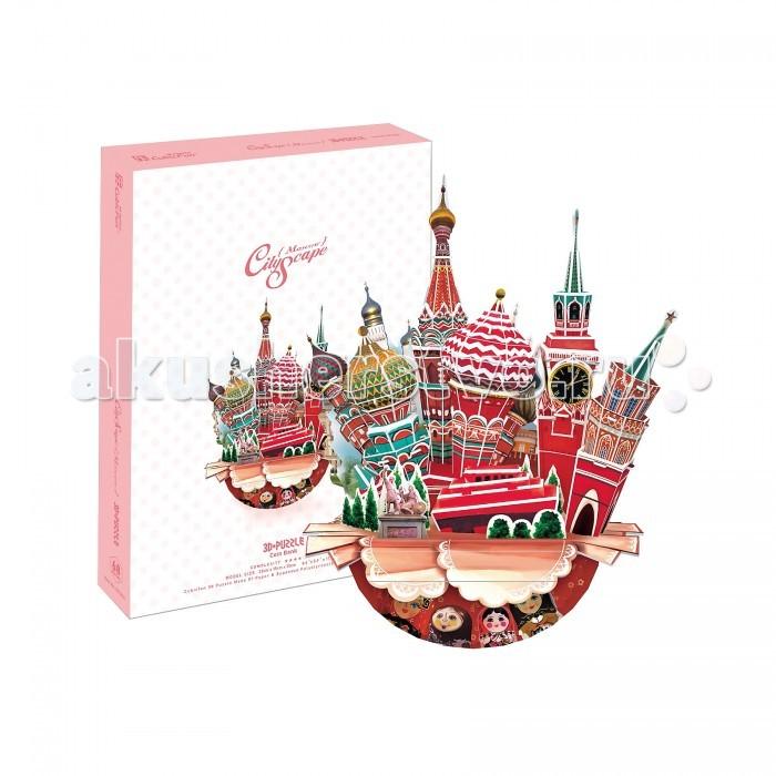 Конструкторы CubicFun 3D пазл Городской пейзаж Москва cubicfun 3d пазл эйфелева башня 2 франция cubicfun 33 детали