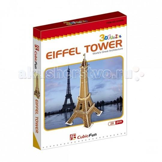 Конструкторы CubicFun 3D пазл Эйфелева башня (Франция) мини серия cubicfun 3d пазл эйфелева башня 2 франция cubicfun 33 детали