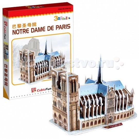 Конструкторы CubicFun 3D пазл Нотрдам де Пари (Франция) мини серия cubicfun 3d пазл эйфелева башня 2 франция cubicfun 33 детали