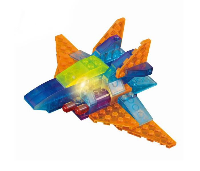 Конструктор Crystaland Светящийся Космический самолёт 4 в 1 (60 деталей)