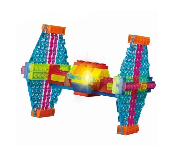 Конструкторы Crystaland Светящийся Космический самолёт 4 в 1 (66 деталей) модель корабля lhmx pinta