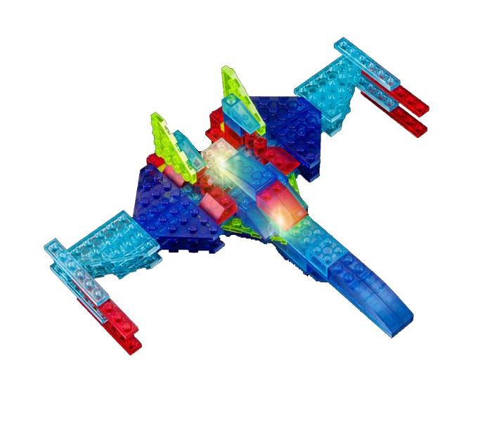 Конструктор Crystaland Светящийся Самолёт 6 в 1 (90 деталей)