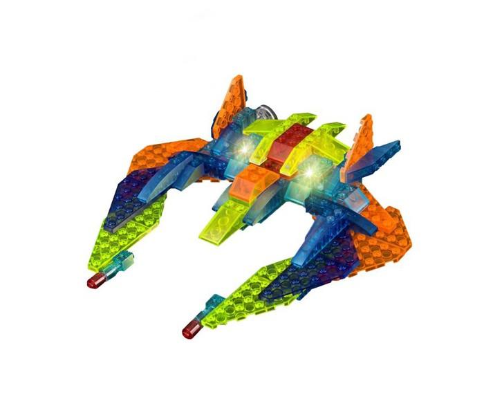 Конструкторы Crystaland Светящийся Самолёт - разведчик 6 в 1 (97 деталей) crystaland конструктор истребитель 6 в 1