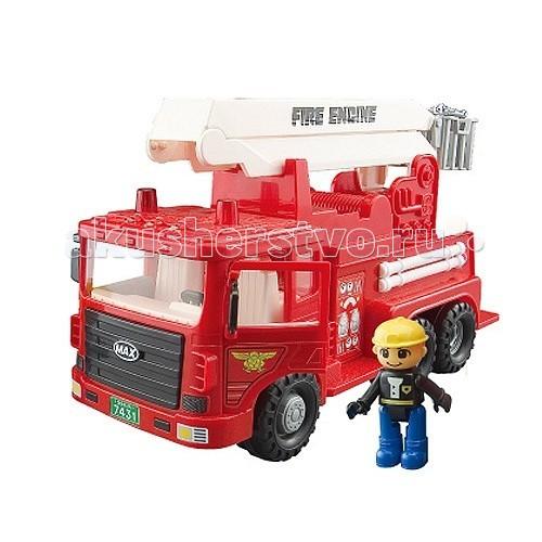 Daesung Модель автотехники Пожарная Max 959-1Модель автотехники Пожарная Max 959-1Daesung Модель автотехники Пожарная Max 959-1  Машины специального назначения, машина пожарная MAX.  Машина пожарная MAX отлично подойдет для игры на открытом воздухе и в помещении, благодаря прорезиненным накладкам на ведущих колесах.  Колеса не оставляют следов на половых покрытиях.   Функции: инерционный механизм, лестница выдвигается и поворачивается на 360 градусов, открываются двери кабины.<br>