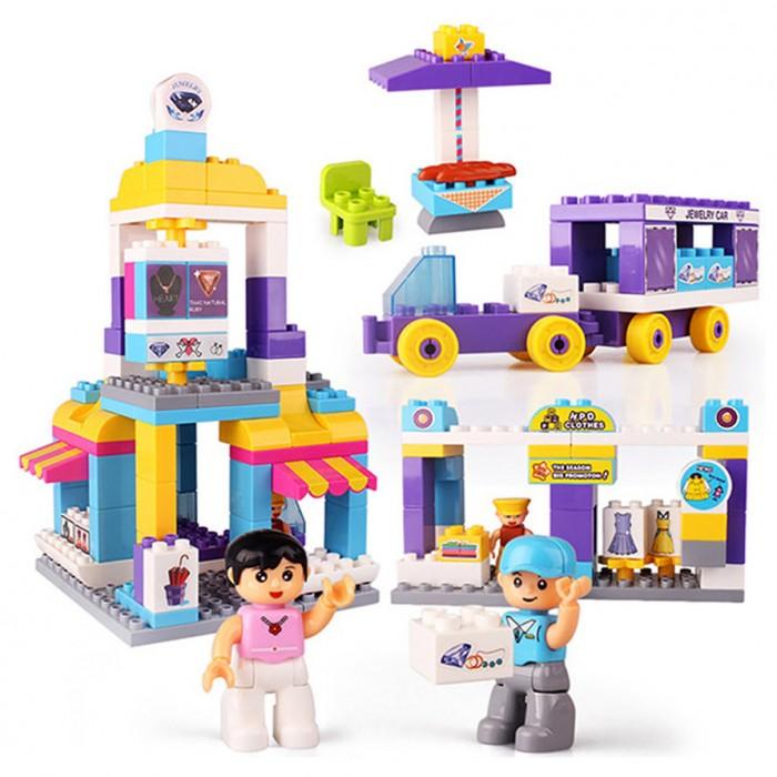 Купить Конструкторы, Конструктор FunKids блочный Самый Ценный в Магазине (151 деталь) DT1616