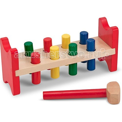 деревянные игрушки melissa Деревянные игрушки Melissa & Doug Классические игрушки Забить в лунки