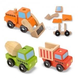 Деревянные игрушки Melissa & Doug Классические игрушки конструктор Строительный транспорт
