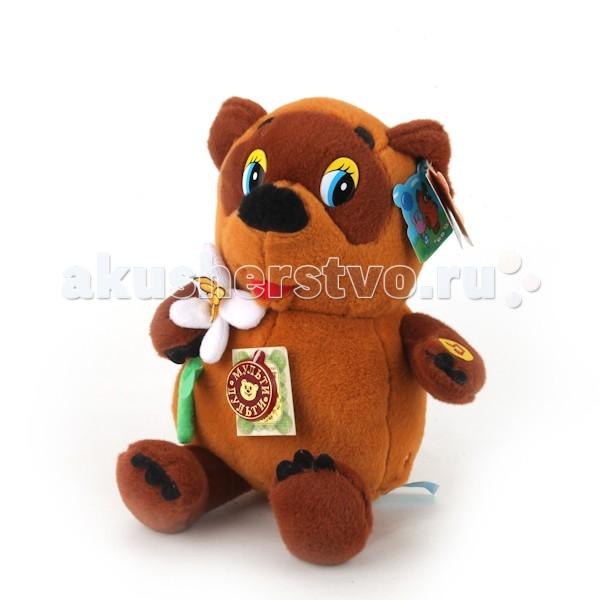 игрушка мягкая мульти пульти винни пух с цветком 25 см озвученный Мягкие игрушки Мульти-пульти Винни-Пух с цветком 25 см