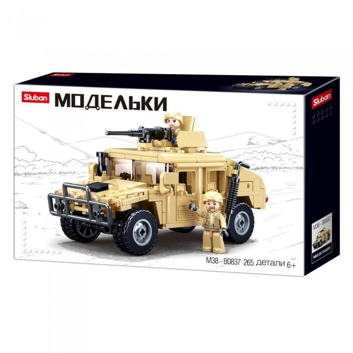 Купить Конструкторы, Конструктор Sluban Военный джип (265 деталей)