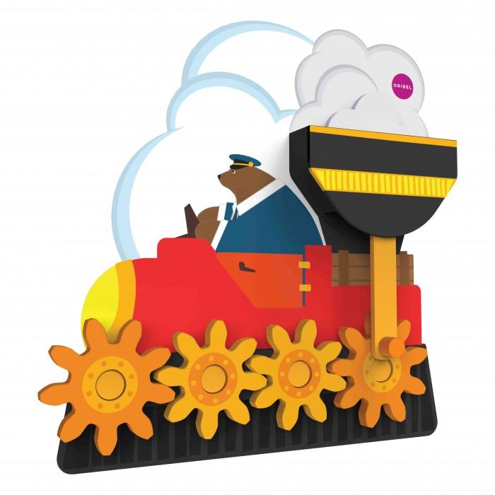 Картинка для Деревянная игрушка Oribel Vertiplay Путешествие мистера Медведя