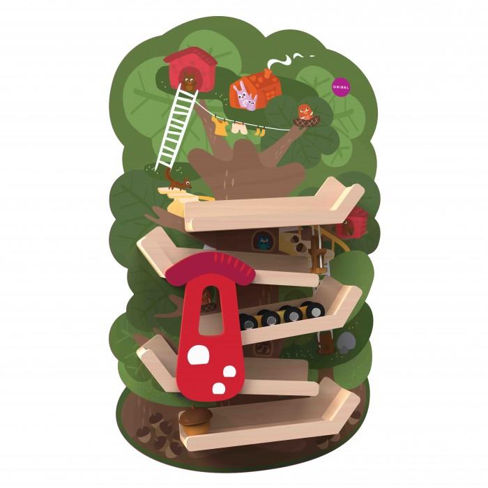 Деревянные игрушки Oribel Vertiplay Приключение на вершине дерева игровые центры oribel лесные друзья