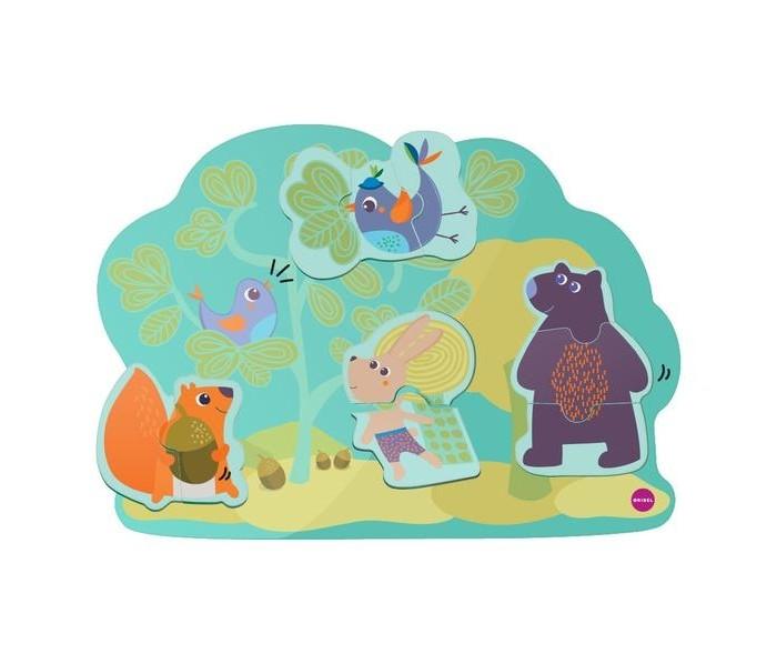 Деревянная игрушка Oribel Vertiplay Магнитные пазлы Кролик Хоппи и его друзья