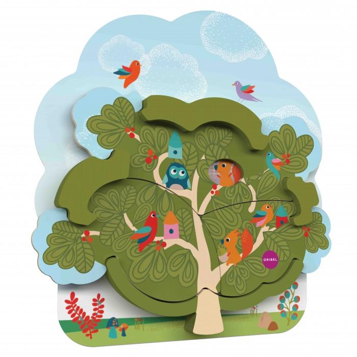 Деревянные игрушки Oribel Vertiplay Домик белки 2х уровневый пазл игровые центры oribel лесные друзья