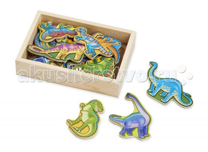 Деревянные игрушки Melissa & Doug Магнитные игры Деревянные магнитные динозавры