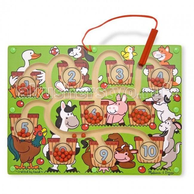 Деревянные игрушки Melissa & Doug Магнитные игры Лабиринт Цифры дети деревянная игрушка магнитная лабиринт лабиринт обучающие бусины слот лабиринт головоломка партийные игры лучший подарок на де