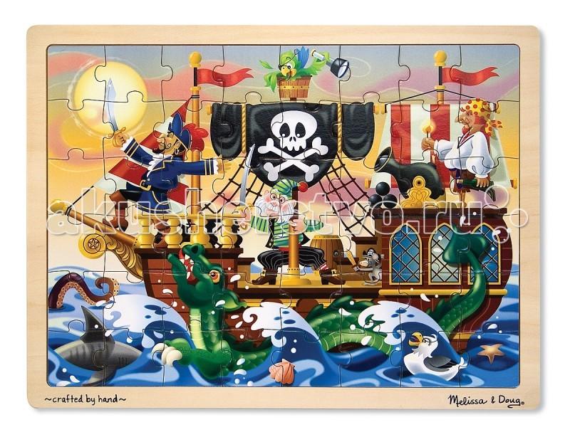 Пазлы Melissa & Doug Мои первые пазлы Приключение пиратов 48 элементов мои первые пазлы melissa