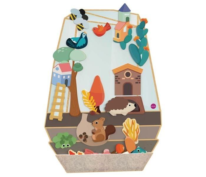 Деревянные игрушки Oribel Vertiplay Магнитная игра Зачарованный сад oribel cтульчик для кормления cocoon oribel orange