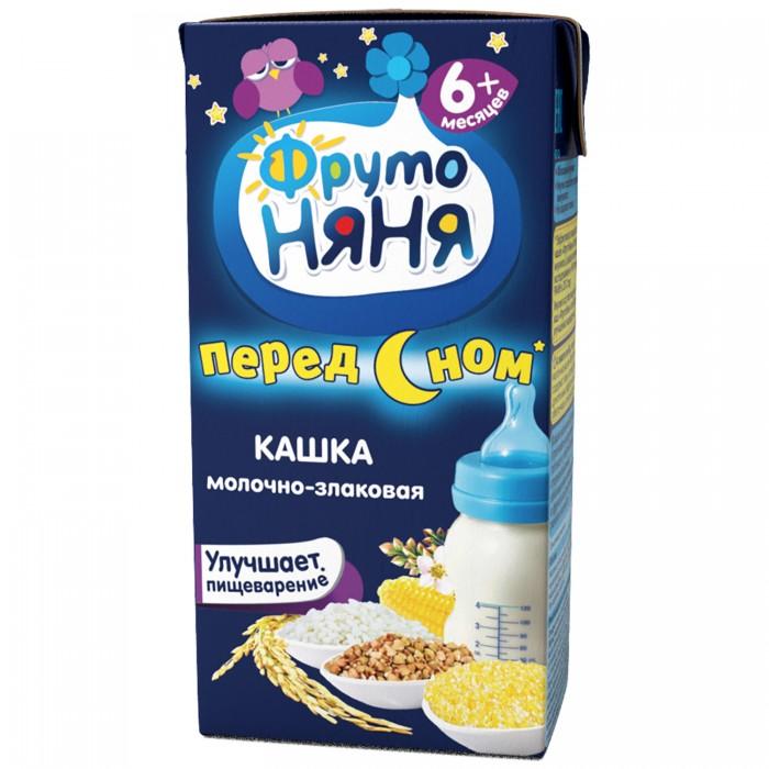 Каши ФрутоНяня Молочная готовая молочно-злаковая каша жидкая 200 гр молочно овсяная с бананом с пребиотиками жидкая с 6 мес 200 мл