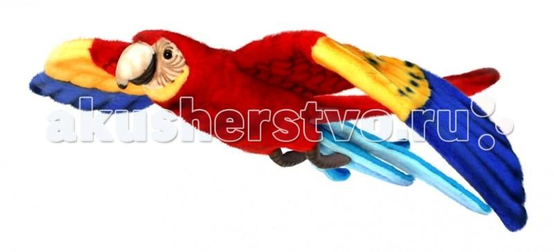 Картинка для Мягкая игрушка Hansa Попугай Ара красный летящий 76 см