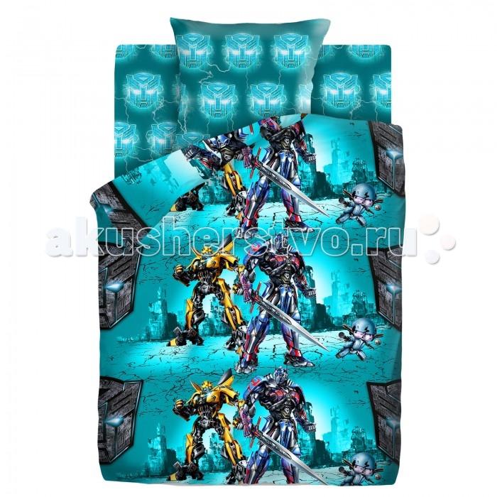 Постельные принадлежности , Постельное белье 1.5-спальное Непоседа Transformers Защитники 1.5-спальное (3 предмета) арт: 486881 -  Постельное белье 1.5-спальное