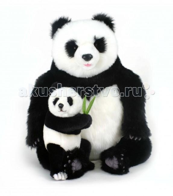 Картинка для Мягкая игрушка Hansa Панда с детенышем 75 см