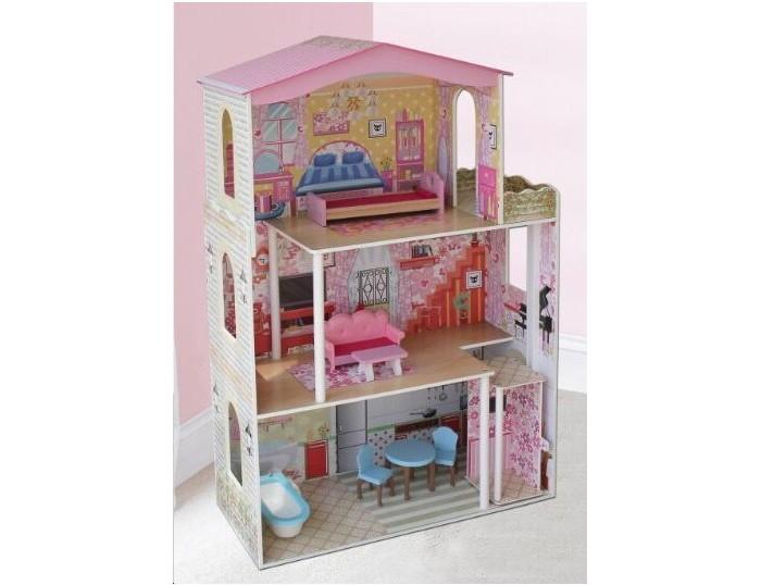 Кукольные домики и мебель Lanaland Игровой домик для кукол 75х32х116 см 1 toy кукольный домик красотка колокольчик с мебелью 29 деталей