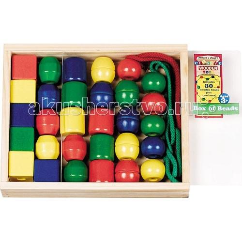 Деревянные игрушки Melissa & Doug Первые навыки Первые бусики