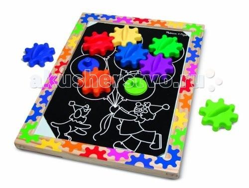 Деревянные игрушки Melissa & Doug Первые навыки Разноцветные колесики на магнитах