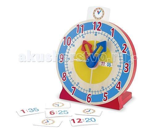 Деревянные игрушки Melissa & Doug Первые навыки Часы с карточками-заданиями 2014