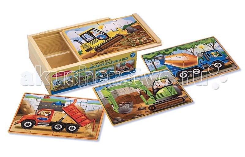 Купить Деревянные игрушки, Деревянная игрушка Melissa & Doug Деревянные пазлы в коробке Строительство
