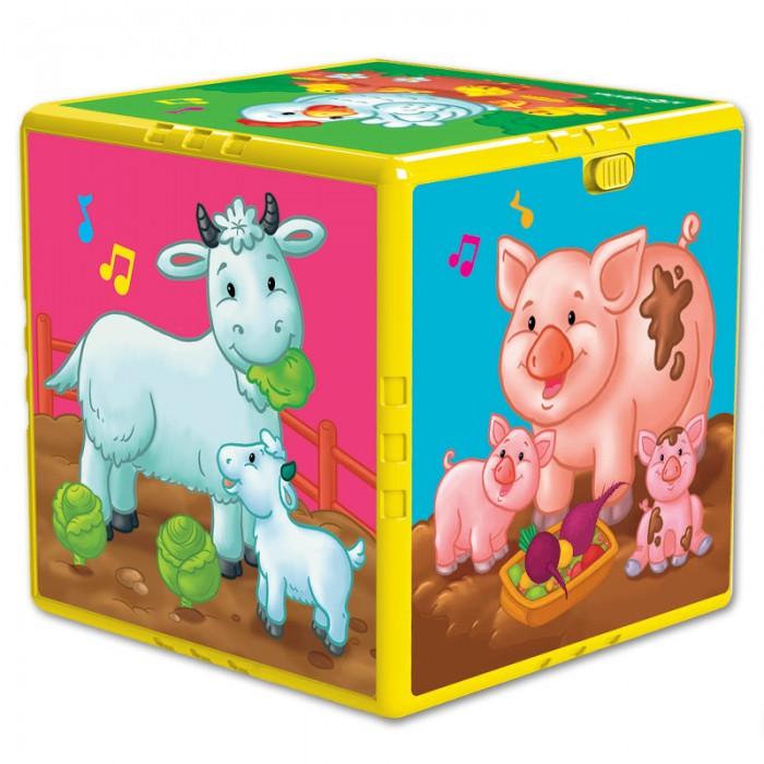 Купить Развивающие игрушки, Развивающая игрушка Азбукварик Говорящий кубик В гостях на ферме