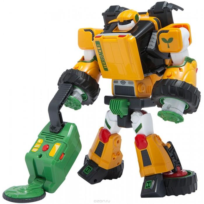 Tobot Робот-трансформер Тобот ТРобот-трансформер Тобот ТTobot Робот-трансформер Тобот Т разработанный по мотивам популярного мультсериала для мальчиков Тоботы, с легкостью может превращаться в танк или трактор. Своим дизайном и функциональными возможностями он привлечет внимание каждого мальчика.  Тобот отличается качественным и детализированным исполнением. Трансформер может превратиться в трактор или танк, при этом любой мальчик легко справится с трансформацией. Подобные игрушки хорошо тренируют логическое мышление. Пушка с зарядами в виде ростков устанавливается в руку или на плечо. У Терракла есть способность к обнаружению металлов, он заботится об окружающей среде.  Функциональные характеристики Терракл изготовлен из качественного, экологически чистого пластика, устойчивого к деформации. Благодаря прочным креплениям фигурку практически невозможно сломать при неправильной трансформации.   На трактор пушка устанавливается сбоку в пазы и выглядит как труба. Повернув крышу трактора, игрушку можно переделать в танк. На танке пушка расположена вверху. Снаряды выпускаются одним нажатием на кнопку оружия.  К трактору или танку можно прикрепить прицеп на колесах, с помощью которого Терракл будет искать металлы в земле. Такой металлоискатель работает на батарейках, издает звуки и говорит 25 фраз на русском языке. Для трансформации транспортного средства необходимо использовать специальный ключ в виде лопаты.  В комплекте: эко-защитник Тобот Терракл традиционное оружие – пушка снаряды в виде ростков многофункциональный прицеп съемный ключ Токей размер трансформера: 23.5 х 10 х 24 см Требуются батарейки 3 х ААА, не входят в комплект<br>