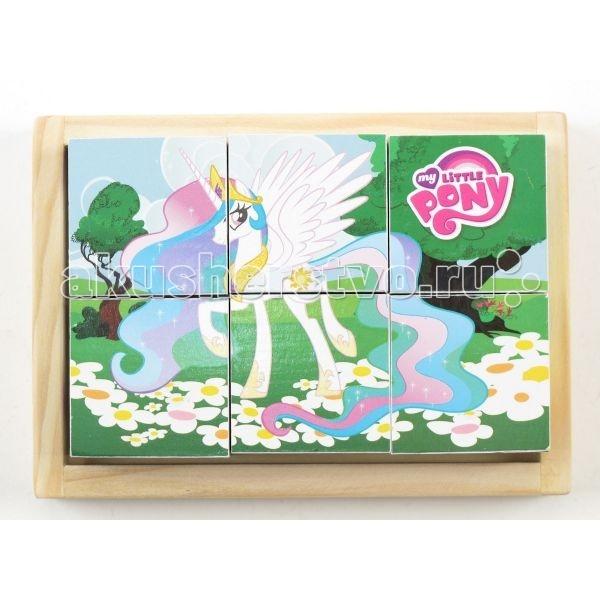 Деревянные игрушки Играем вместе Кубики My Little Pony 6 шт. фигурки игрушки играем вместе деревянная игрушка играем вместе буратино кот