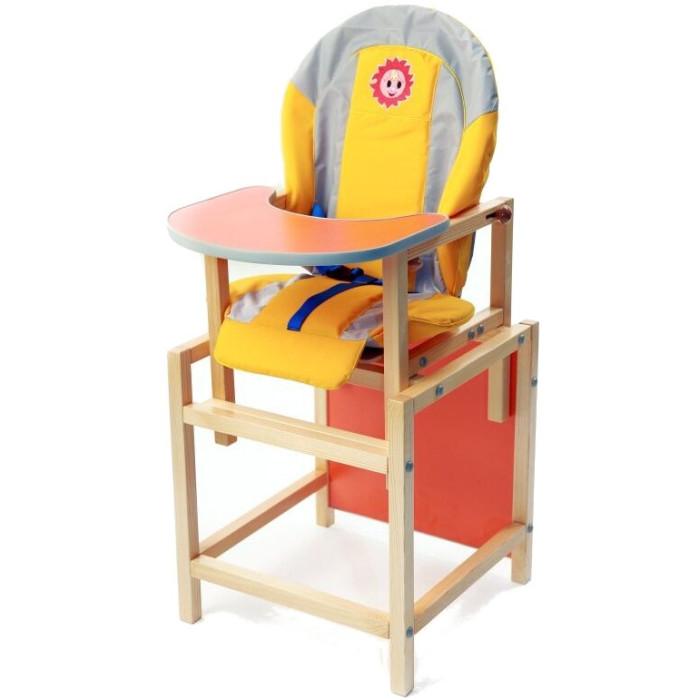 Стульчик для кормления Вилт СолнышкоСолнышкоСтульчик для кормления Вилт Солнышко  — это комплект для кормления ребенка.  Особенности: Отличный стул – лидер продаж. Строгое соотношение цена / качество. Чехол: курточная водоотталкивающая ткань, поролон 4 см, мягкие подлокотники. Стульчик имеет 3-х точечный ремень безопасности. Регулируемое положение спинки. Регулируемая столешница. Сборка на евровинтах. Разбирается на стул и стол. Материал: Натуральное дерево, сосна, брусок 3*3 см Покраска в 3 слоя.<br>