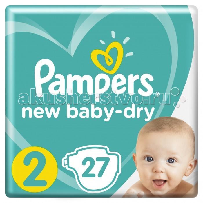 Подгузники Pampers Подгузники New Baby-Dry Mini р.2 (3-6 кг) 27 шт bella подгузники для детей baby happy размер mini 2 3 6 кг 78 шт